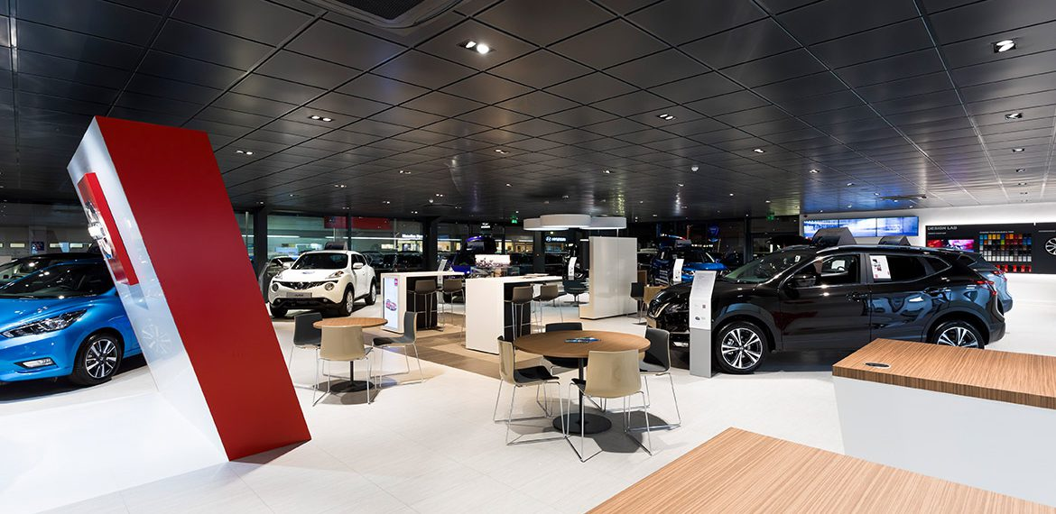 Car showroom design and development by OSG Architecture