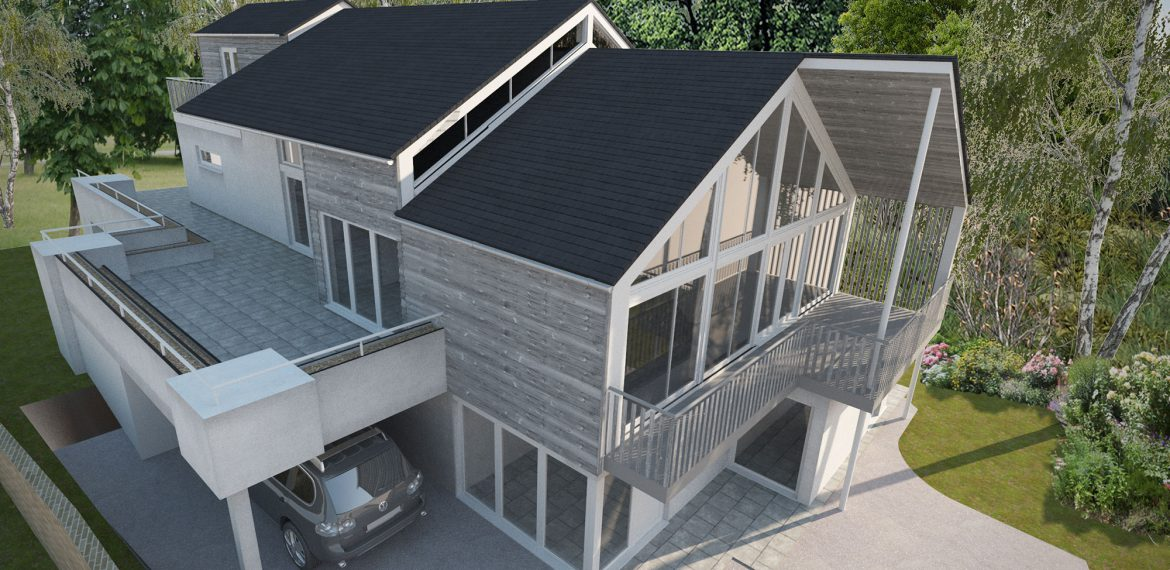 Redevelopment of timber framed residential property