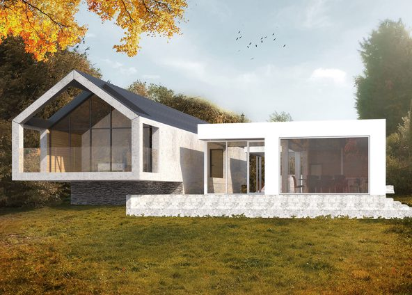 Architects project for replacement residential dwelling in Kent